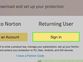 Как удалить старые (просроченные) продукты Norton из учетной записи Norton