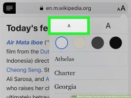 Как изменить размер текста для режима чтения на iPhone