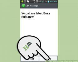 Как отклонить телефонный звонок с текстовым сообщением