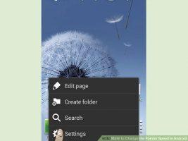 Как изменить скорость курсора в Android