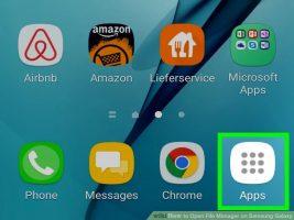 Как открыть диспетчер файлов на Samsung Galaxy