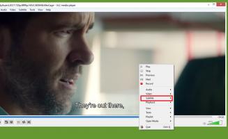 Как отключить субтитры в VLC медиаплеере