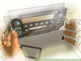 Как добавить вспомогательный разъем для MP3-плеера в VW Beta Car Radio
